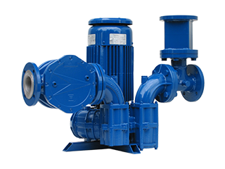 ATEX Cat. 2D Gas blower with filter and safety valve